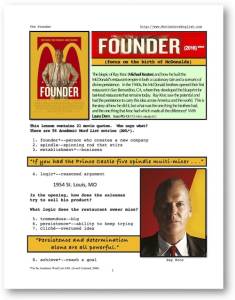 THE FOUNDER, Whole-Movie English (ESL) Lesson | Crafting | Cross-Stitch | Other