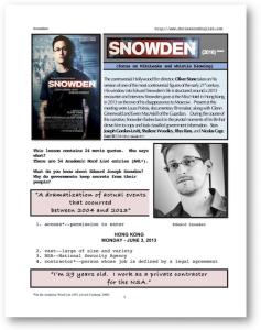 snowden, whole-movie english (esl) lesson