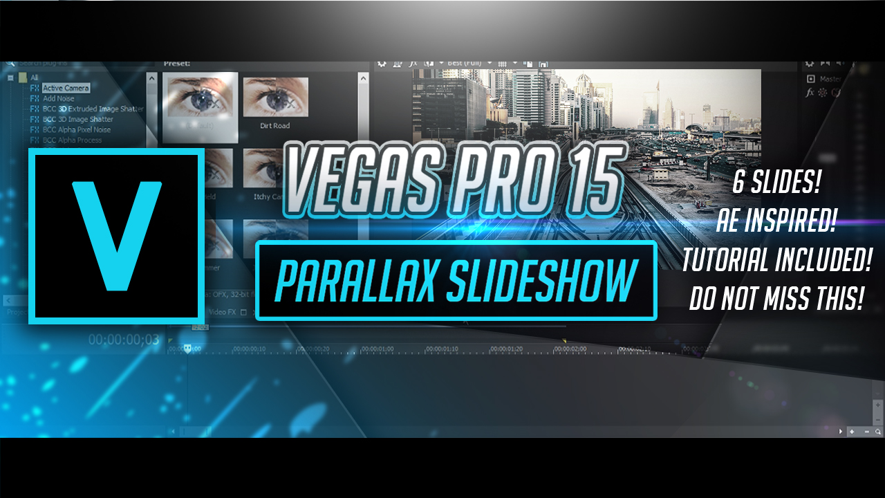 Sony Vegas Mini Glass Parallax Slideshow By Pro Edits Software