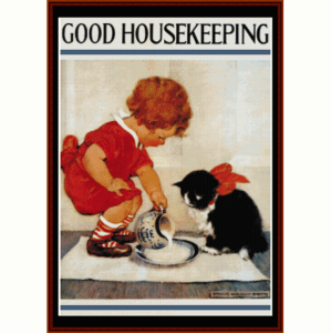 good housekeeping - vintage poster cross stitch pattern by cross stitch collectibles