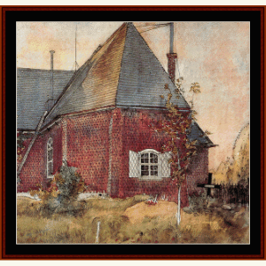 Old Sunborn Church - Larsson cross stitch pattern by Cross Stitch Collectibles | Crafting | Cross-Stitch | Wall Hangings