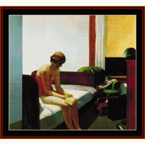 hotel room - hopper cross stitch pattern by cross stitch collectibles