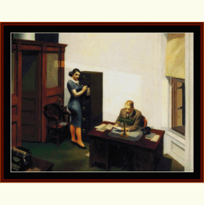 Office at Night - Hopper cross stitch pattern by Cross Stitch Collectibles | Crafting | Cross-Stitch | Other
