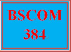 BSCOM 384 Entire Course | eBooks | Education