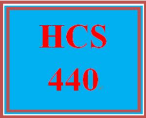 hcs 440 entire course