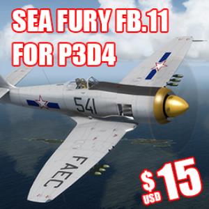 sea fury p3d4