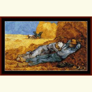 La Meridienne - Van Gogh cross stitch pattern by Cross Stitch Collectibles | Crafting | Cross-Stitch | Wall Hangings