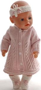 DollKnittingPatterns 0179D ALISON - Kjole, bukse, pannebånd og sokker-(Norsk) | Crafting | Knitting | Other