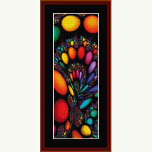 fractal 635 bookmark cross stitch pattern by cross stitch collectibles