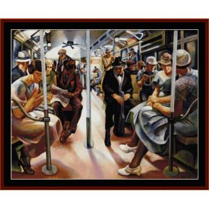 subway - americana cross stitch pattern by cross stitch collectibles