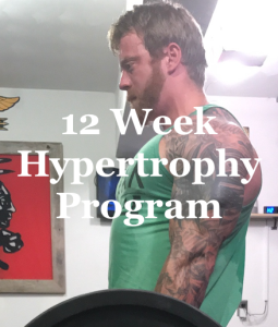 12 week hypertrophy program