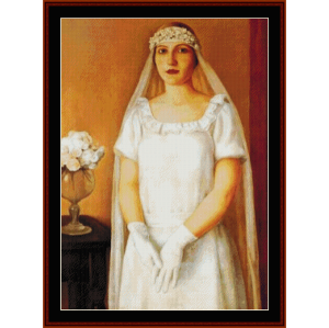 The Bride - Antonio Donghi cross stitch pattern by Cross Stitch Collectibles | Crafting | Cross-Stitch | Wall Hangings