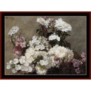 Mixed Bouquet - Fantin-LaTour cross stitch pattern by Cross Stitch Collectibles | Crafting | Cross-Stitch | Wall Hangings