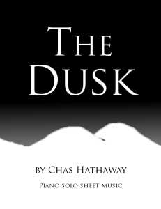 the dusk sheet music