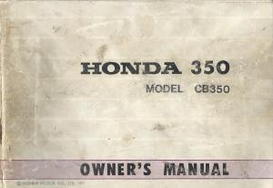 honda cb350 owners manual