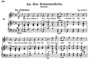 an den sonnenschein, op 36 no.4, high voice in b-flat major, r. schumann, c.f. peters