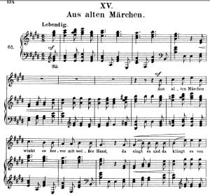 aus alten märchen, op.48 no.15, high voice in e major, r. schumann (dichterliebe), c.f. peters