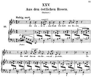 aus den östlichen rosen, op.25 no.25, high voice in e-flat major, r. schumann (myrthen), c.f. peters