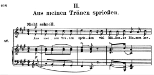 aus meinen trânen spriessen, op.48 no.2 high voice in a major, r. schumann (dichterliebe), c.f. peters