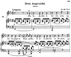Dein Angesicht, Op.127 No.2 High Voice in E-Flat Major, R. Schumann, C.F. Peters | eBooks | Sheet Music