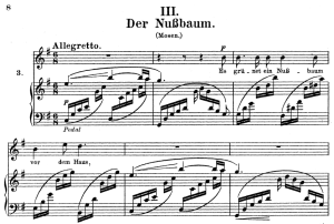 Der Nussbaum, Op.25 No.3, High Voice in G Major, R. Schumann (Myrthen), C.F. Peters | eBooks | Sheet Music