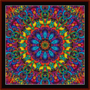 fractal 641 cross stitch pattern by cross stitch collectibles