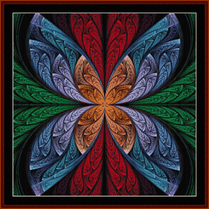 fractal 643 cross stitch pattern by cross stitch collectibles