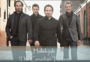 a christmas hallelujah (canadian tenors inspired) for tttb, rhythm, brass and strings.