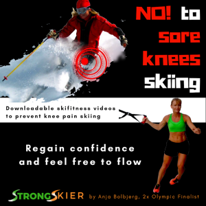 no to sore knees skiing - feel free to flow and enjoy the snow !
