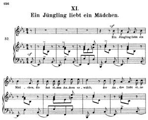 ein jüngling liebt ein mädchen, op.48 no.11, high voice in e-flat major, r. schumann (dichterliebe)