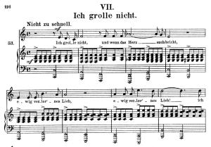 ich grolle nicht, op.48 no.7, high voice in c major, r. schumann (dichterliebe), c.f. peters