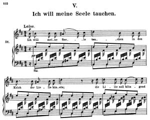 ich will meine seele tauchen, op.48 no.5, high voice in in b minor, r. schumann (dichterliebe), c.f. peters
