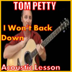 learn to play i wont back down by tom petty