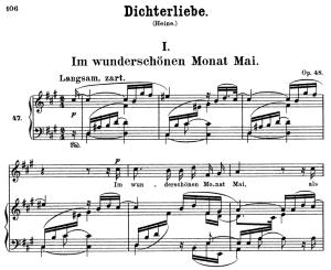 im wunderschönen monat mai op.48 no.1, high voice in in f-sharp minor, r. schumann (dichterliebe)