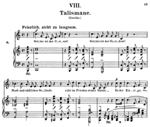 talismane op.25 no.8, high voice in c major, r. schumann (myrthen), c.f. peters