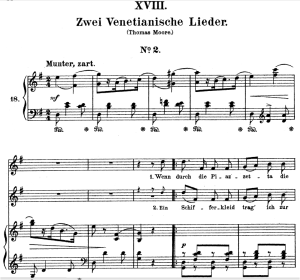 venetianisches lied ii op.25 no.18, high voice in g major, r. schumann (myrthen), c.f. peters