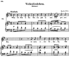 volksliedchen op.51 no.2, high voice in g major, r. schumann, c.f. peters