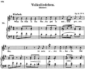 Volksliedchen Op.51 No.2, High Voice in G Major, R. Schumann, C.F. Peters | eBooks | Sheet Music
