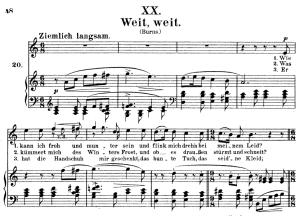 Weit, weit Op.25 No.20, High Voice in A minor, R. Schumann (Myrthen), C.F. Peters | eBooks | Sheet Music