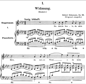 Widmung Op.25 No.1, High Voice in A-Flat Major, R. Schumann (Myrthen), C.F. Peters | eBooks | Sheet Music