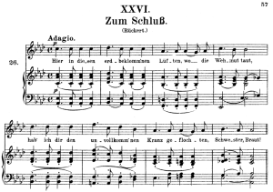 zum schluss op.25 no.26, high voice in a-flat major, r. schumann (myrthen), c.f. peters