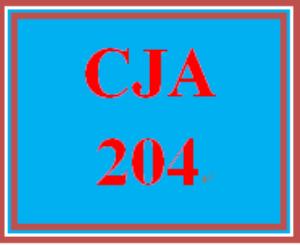 CJA 204 Entire Course   eBooks   Education