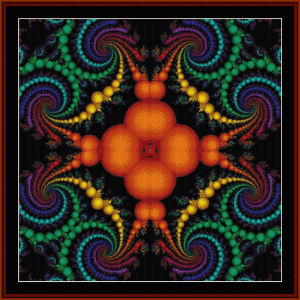 fractal 640 cross stitch pattern by cross stitch collectibles