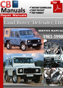 land rover defender 110 1983-1990 service repair manual