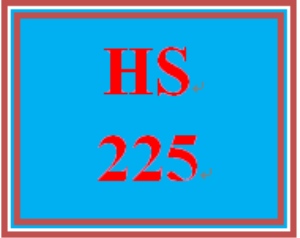 HS 225 Week 1 Case Management Ticker | eBooks | Education
