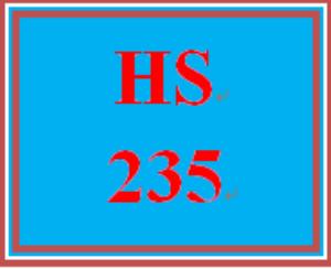 hs 235 week 3 public assistance program review