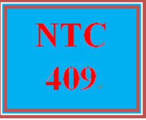 ntc 409 week 3 team
