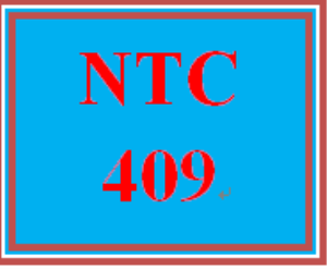 NTC 409 Entire Course | eBooks | Education