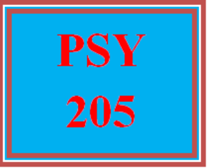 PSY 205 Entire Course | eBooks | Education