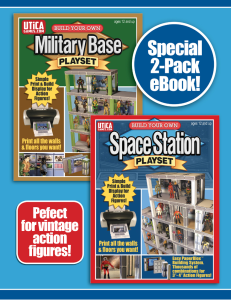 2 pack special! print & build your own space station & military playsets